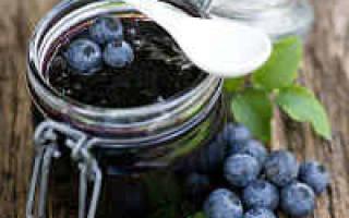 Как приготовить на зиму чернику с сахаром