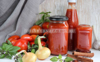 Как домашний кетчуп сделать густым