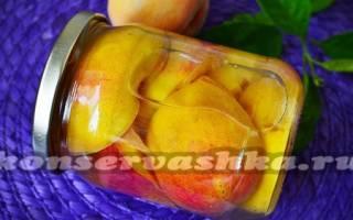 Как законсервировать персики в сиропе как магазинные