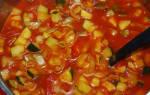 Кабачковое лечо с томатной пастой на зиму