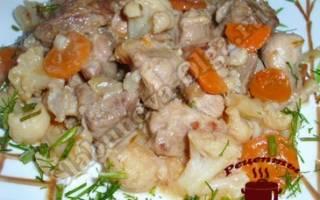 Блюда из цветной капусты с мясом рецепты