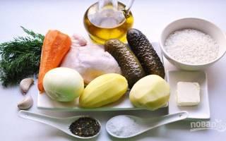 Как варить суп рассольник с рисом