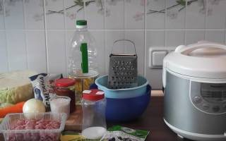 Как в мультиварке потушить капусту с фаршем