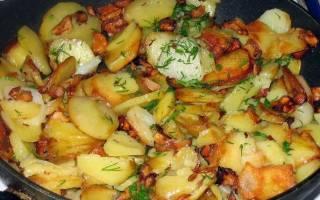 Как пожарить картошку с грибами шампиньонами