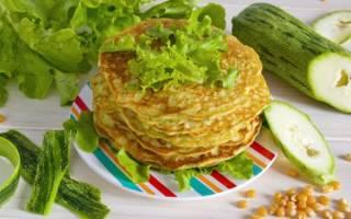 Блины из кабачков калорийность на 100 грамм