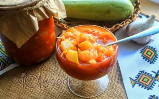 Кабачки на зиму с морковкой и чесноком
