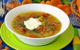 Грибной суп из лисичек рецепт с курицей