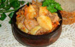Жаркое из свинины с картошкой и кабачками