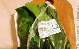Как приготовить свежий шпинат на гарнир