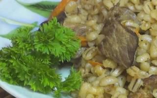 Как готовить перловую кашу с мясом