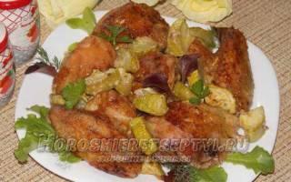 Как приготовить в духовке курицу с кабачками