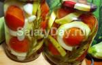 Заготовки на зиму из кабачков и томатов