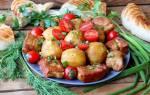 Блюдо из картошки и мяса в казане