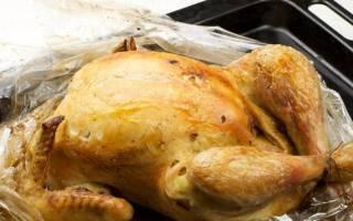 Как запекать курицу в духовке в пакете для запекания