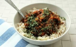 Как приготовить рис с чечевицей
