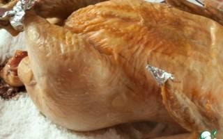 Как приготовить в духовке курицу на соли