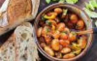 Закуска из бобов моркови и лука на зиму