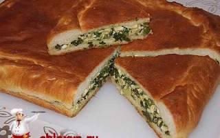 Закусочный пирог с зеленым луком и яйцом
