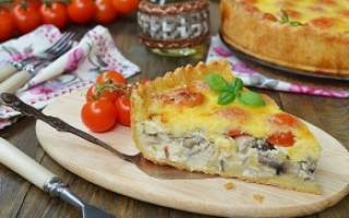 Как приготовить пирог с грибами в духовке