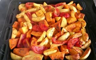 Как запечь тыкву с овощами в духовке