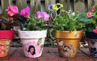Как декорировать горшок цветочный