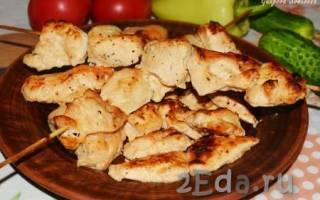 Как приготовить шашлык из курицы в духовке на протвине без шампуров