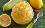 Варенье из кабачков с мятой и лимоном