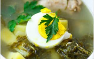 Как варить суп щавельный