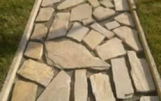 Как класть плоский камень