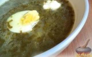 Как приготовить щавелевый суп с яйцом с мясом