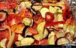 Как запечь овощи в духовке кусочками