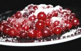 Как приготовить свежую клюкву с сахаром на зиму