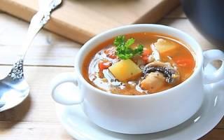 Как варить суп грибной