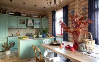 Дизайн кухни на даче в деревянном доме