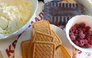 Десерт из творога и печенья без выпечки