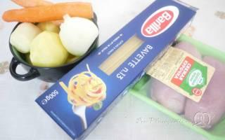 Как варить суп с лапшой и картошкой