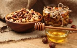 Как орехи залить медом