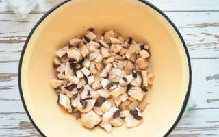 Заготовки на зиму с грибами и фасолью