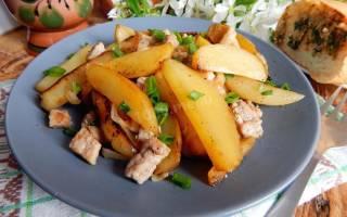 Как жарить картошку с мясом