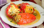Как приготовить вкусные фаршированные перцы пошаговый рецепт
