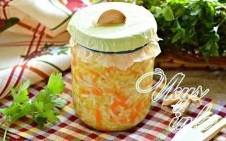 Засолка капусты с чесноком на зиму рецепты