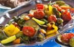 Блюда из синеньких и кабачков в духовке